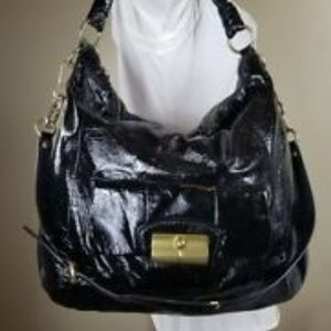 COACH BLACK Patent Leather Hobo